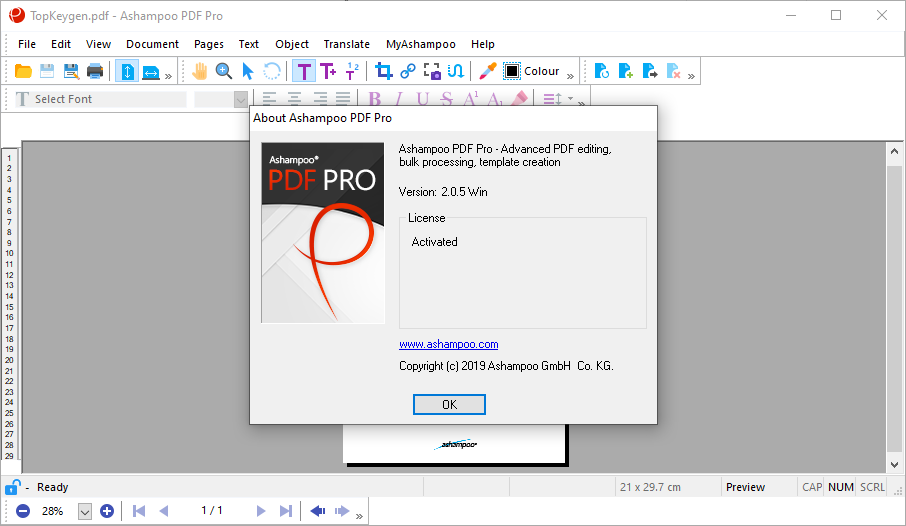 Ashampoo PDF Pro 2.0.5 Patch & Activation Key {2020} Free Download