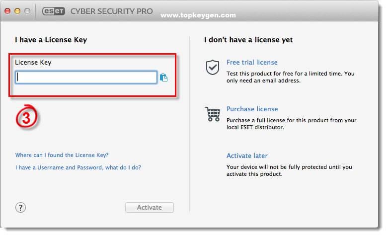 Eset Cybersecurity Pro License Key 2019 Plus Activation Key