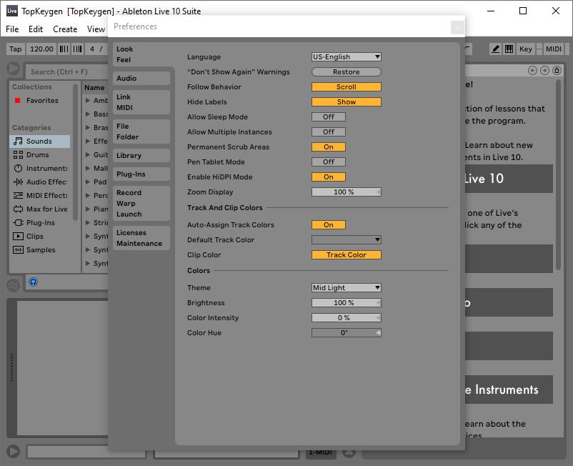 Ableton Live 10 Suite v10.1.9 License Key Free Download