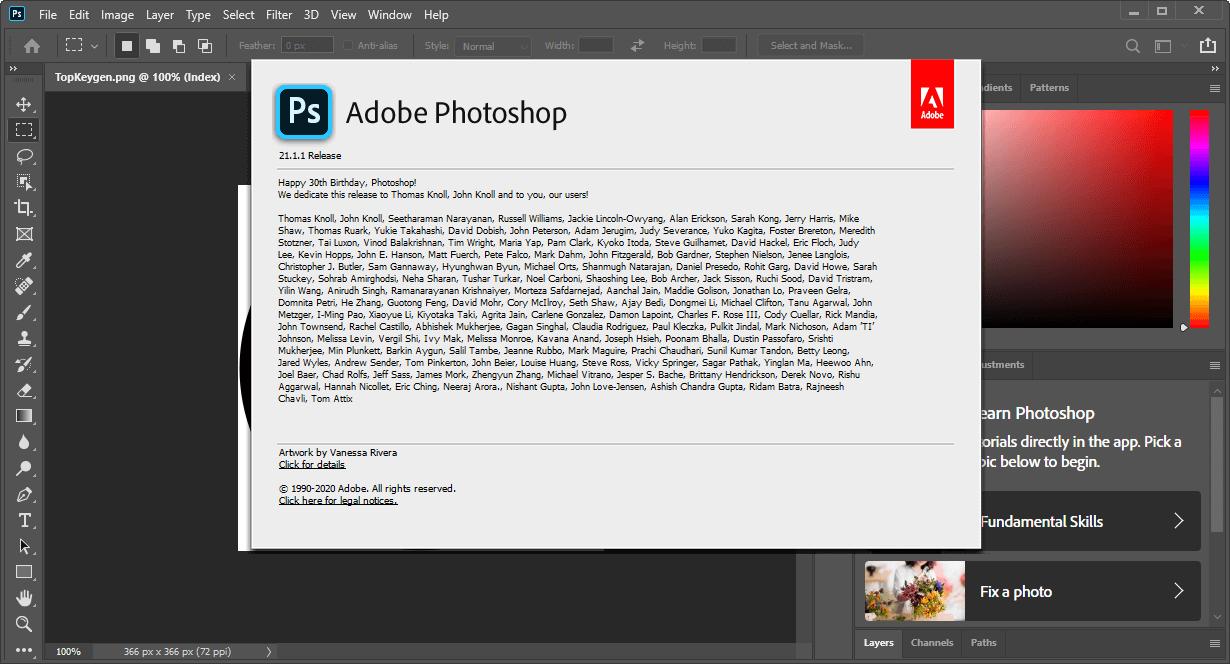 Adobe Photoshop 2020 Crack v21.1.1.121 + Serial Key Free Download