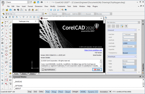 CorelCAD 2020.5 v20.1.1.2024 Crack & License Key Free Download