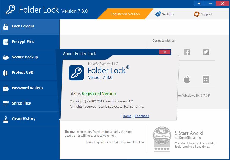 Folder Lock 7.8.0 Crack Free Download