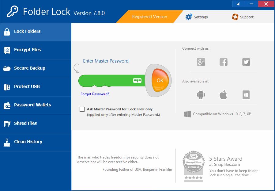 Folder Lock 7.8.0 Serial Key Free Download