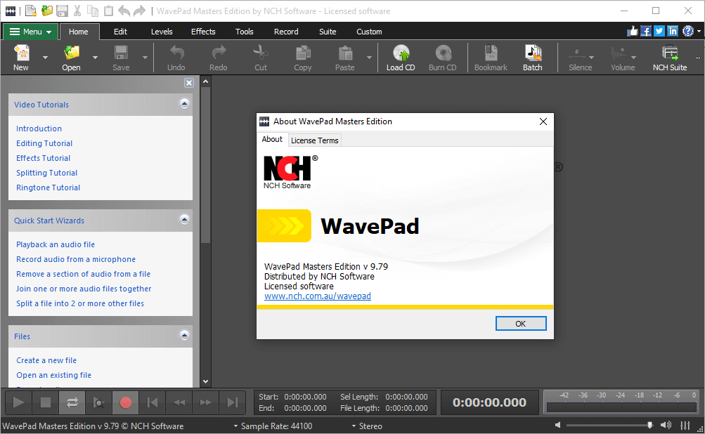 NCH Wavepad Sound Editor 9.79 Registration Code