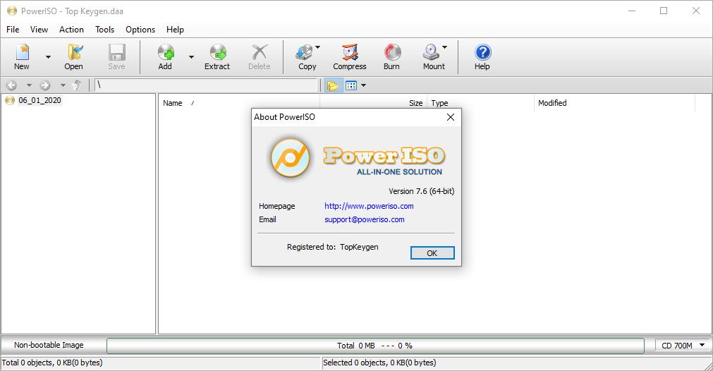 PowerISO 7.6 Keygen & Portable {2020} Free Download