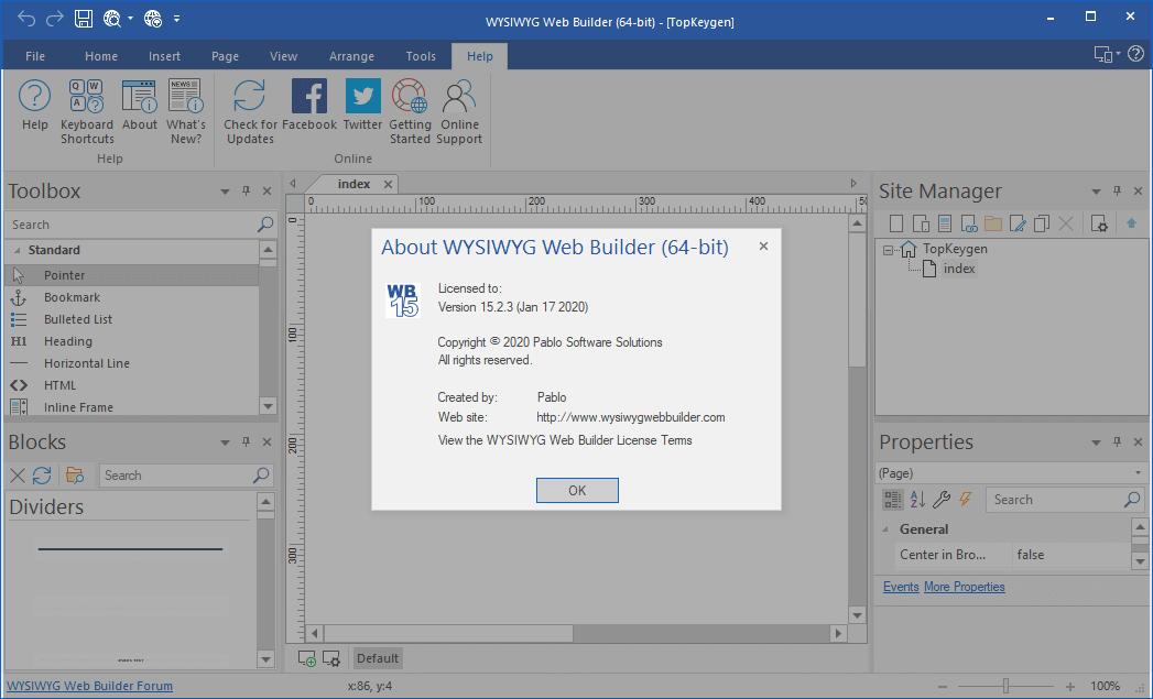 WYSIWYG Web Builder 15.2.3 Keygen Free Download