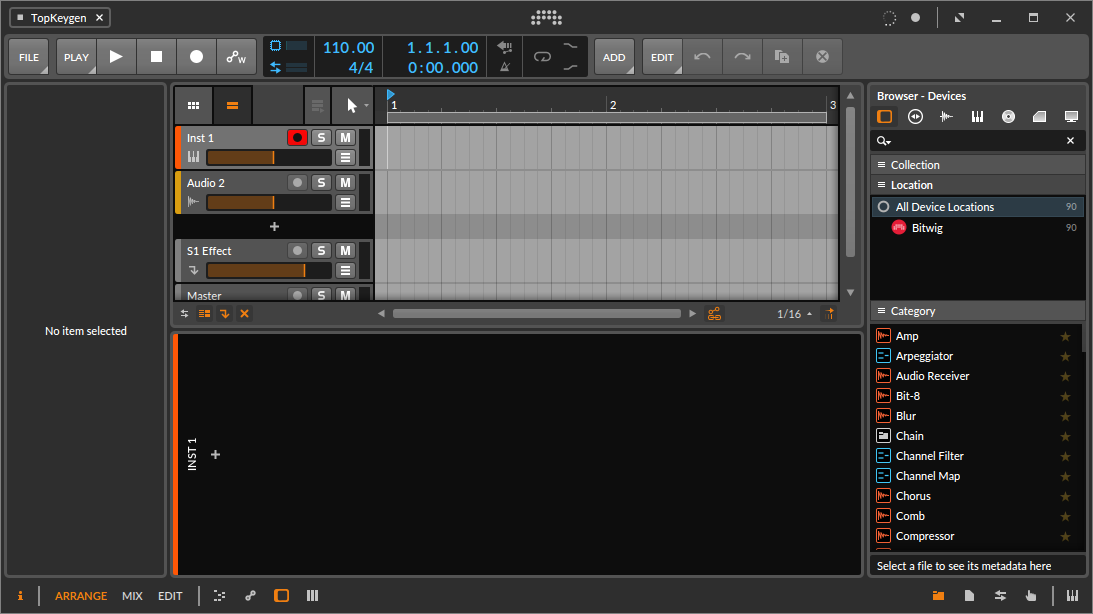Bitwig Studio 3.1.2 Serial Key Free Download