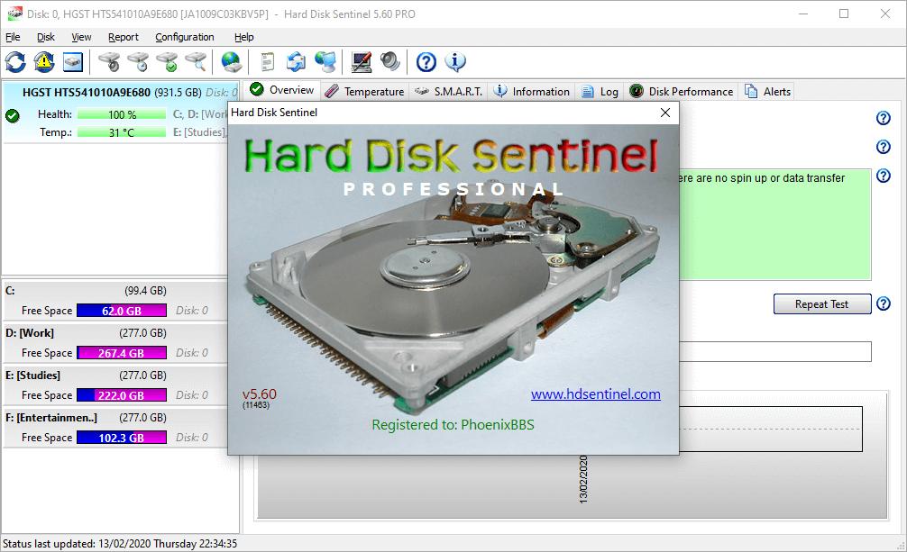 Hard Disk Sentinel Pro 5.60 Crack & Serial Key {2020} Free Download