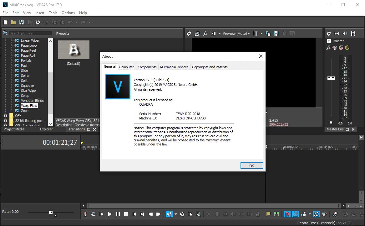 MAGIX VEGAS Pro 17.0 Build 421 Crack & Serial Key {2020} Free Download