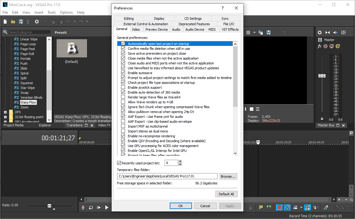 MAGIX VEGAS Pro 17.0 Build 421 License Key {2020} Free Download