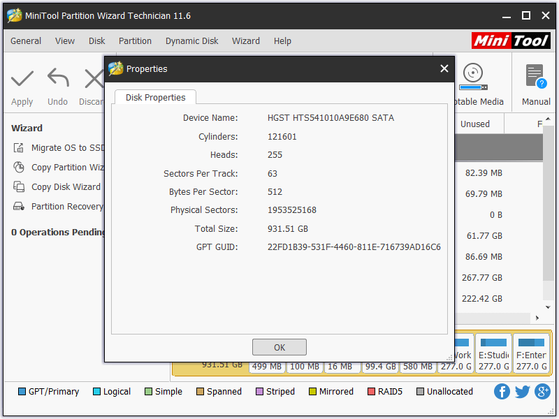 MiniTool Partition Wizard Technician 11.6 License Key Download