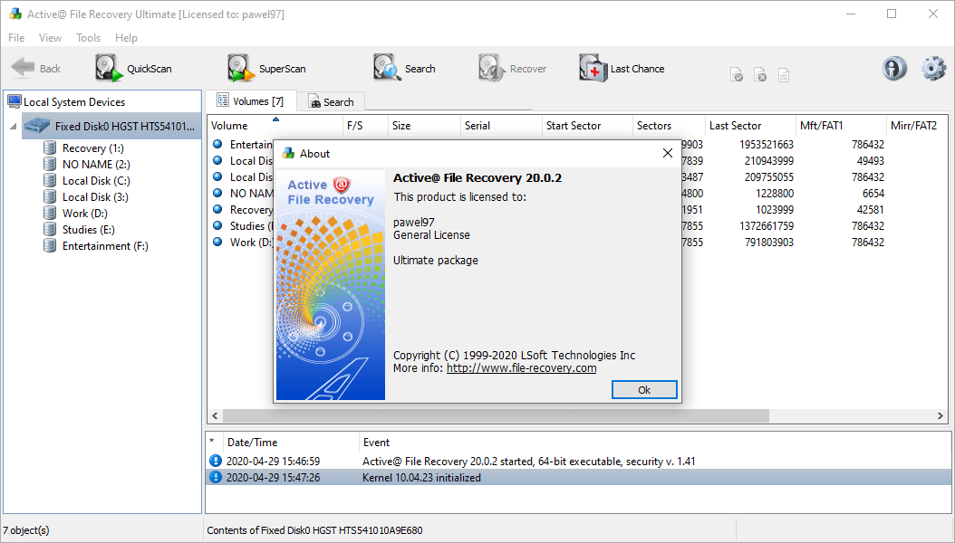 Active@ File Recovery 20.0.2 Crack & License Key {2020} Free Download