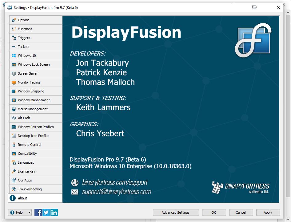 DisplayFusion Pro 9.7 Beta 6 Crack & License Key {2020} Free Download