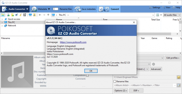 EZ CD Audio Converter 9.1.3.1 Serial Key & Patch {2020} Free Download