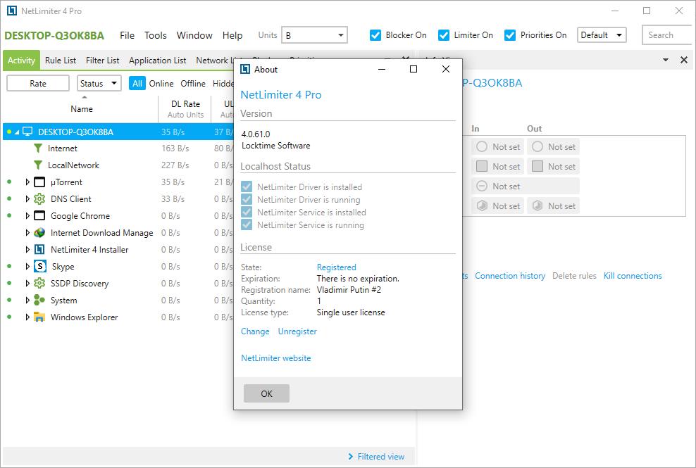 NetLimiter Pro 4.0.61.0 License Key + Crack {2020} Free Download