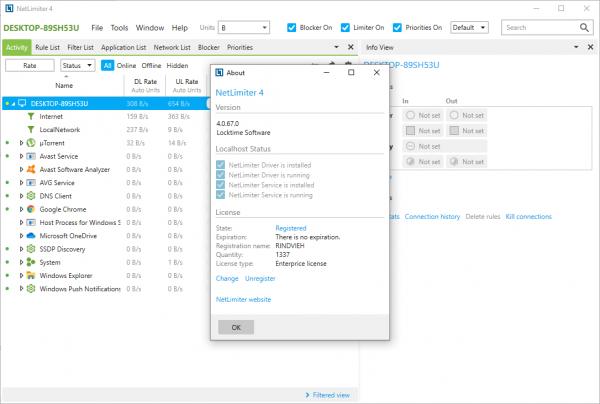 NetLimiter Pro 4.0.67.0 Enterprise License Key + Crack {2020} Free Download