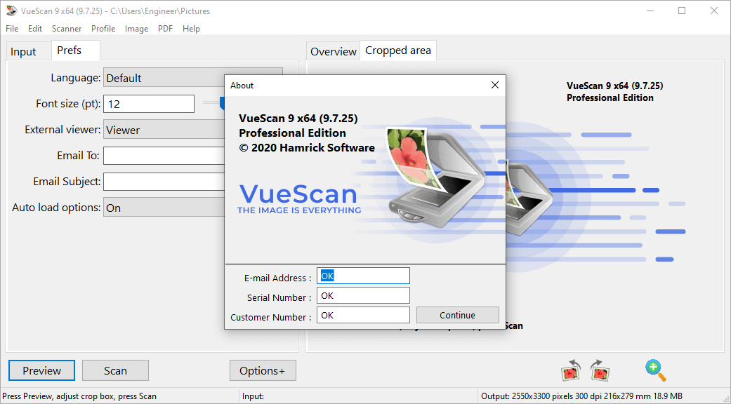 VueScan Pro 9.7.25 Patch & Serial Key {2020} Free Download