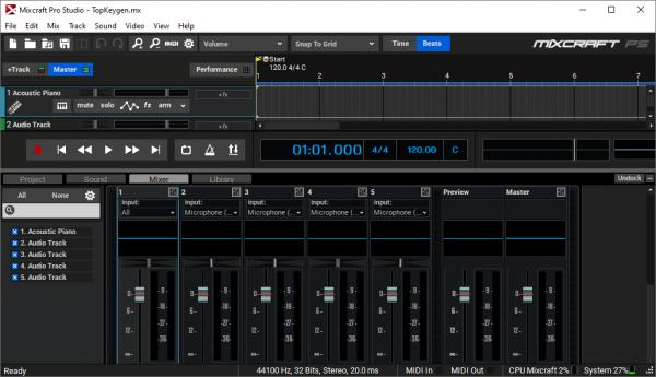 Acoustica Mixcraft Pro Studio Full Crack & Serial Key Free Download
