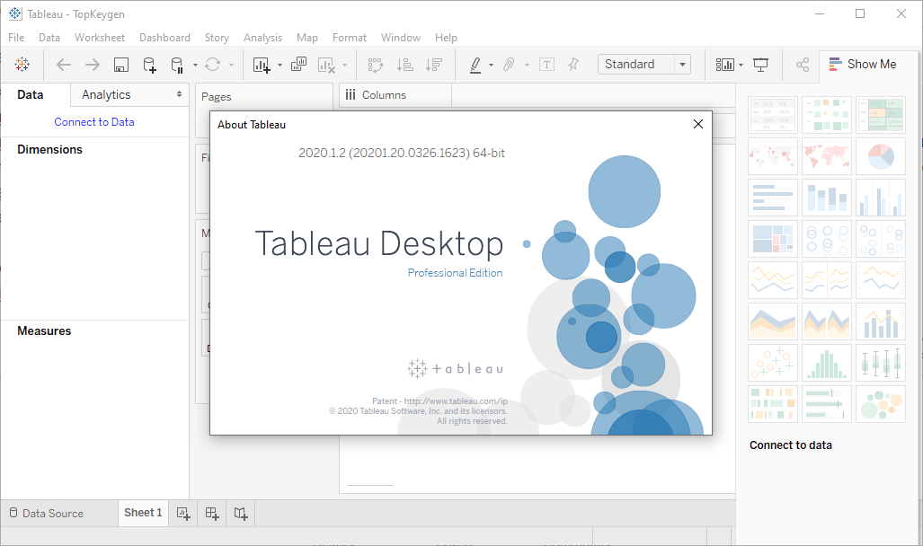Tableau Desktop 2020.1.2 Professional Edition Crack & Serial Key Free Download