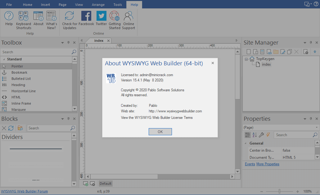 WYSIWYG Web Builder 15.4.1 Patch & Keygen {2020} Free Download