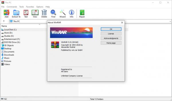 WinRAR 5.91 Keygen Final (x86 & x64) 2020 Latest Free Download