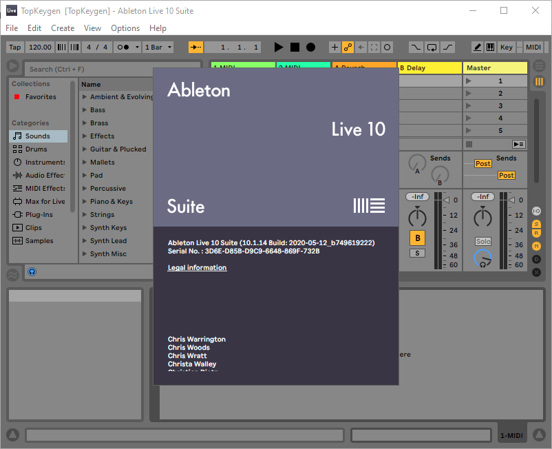 Ableton Live 10 Suite Keygen v10.1.14 + Crack Free Download
