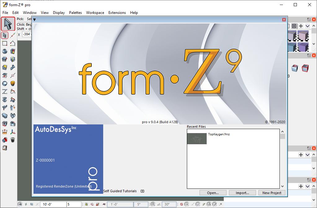 form•Z Pro 9.0.4 Build A12B Serial Key & Crack {2020} Free Download