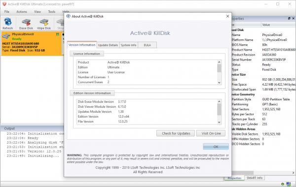 Active@ KillDisk Ultimate 12.0.25.2 Crack + Serial Key {2020} Free Download