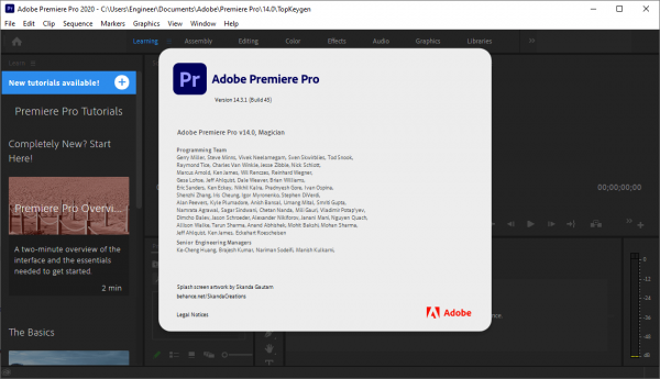 Adobe Premiere Pro 2020 v14.3.1.45 Crack & License Key Free Download