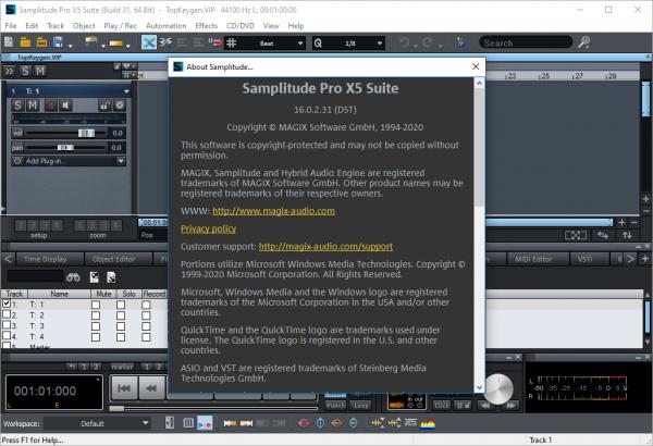 MAGIX Samplitude Pro X5 Suite 16.0.2.31 Crack {2020} Free Download