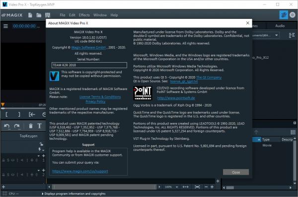 MAGIX Video Pro X12 v18.0.1.82 Crack & License Key {2020} Free Download