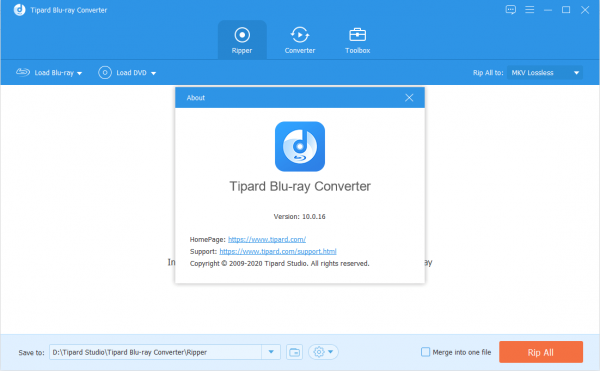 Tipard Blu-ray Converter 10.0.16 Patch & License Key {2020} Free Download