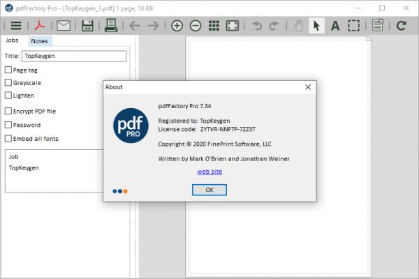 pdfFactory Pro 7.34 Patch & License Key {2020} Free Download