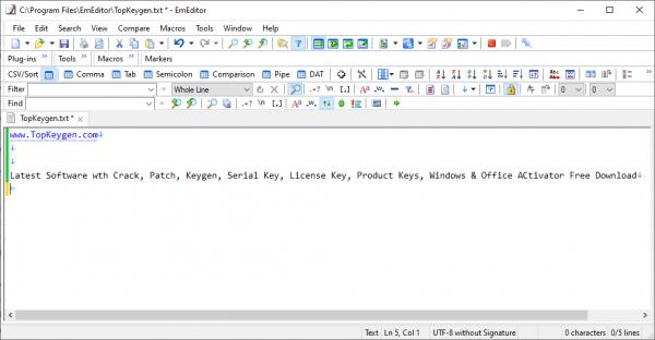 Emurasoft EmEditor Professional Full License Key {Tested} Free Download