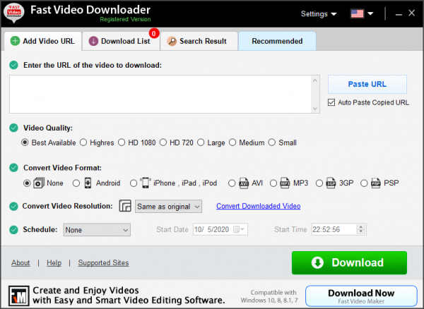 Fast Video Downloader Full License Key & Patch {Tested} Free Download